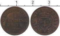 Изображение Монеты Германия Пруссия 1 пфенниг 1856 Медь XF