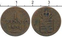 Изображение Монеты Германия Саксен-Кобург-Готта 1 пфенниг 1834 Медь VF