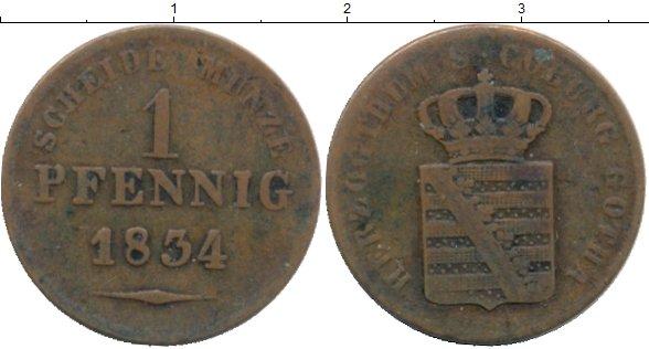 Картинка Монеты Саксен-Кобург-Готта 1 пфенниг Медь 1834