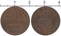 Изображение Монеты Саксен-Кобург-Готта 1 1/2 пфеннига 1833 Медь VF