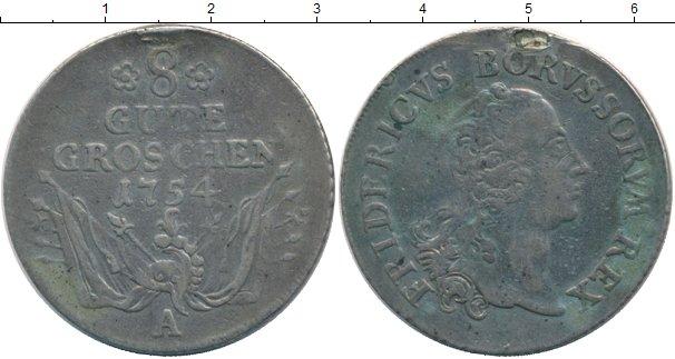 Картинка Монеты Пруссия 8 грошей Серебро 1754