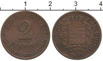 Изображение Монеты Саксен-Кобург-Готта 2 пфеннига 1852 Медь VF