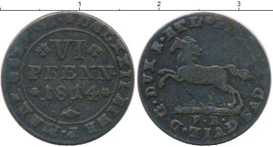Картинка Монеты Брауншвайг 6 пфеннигов Серебро 1814