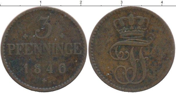 Картинка Монеты Мекленбург-Шверин 3 пфеннига Медь 1846