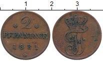 Изображение Монеты Германия Мекленбург-Шверин 2 пфеннига 1831 Медь XF