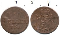 Изображение Монеты Германия Саксен-Хильдбургхаузен 1 геллер 1761 Медь VF