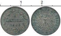 Изображение Монеты Франкфурт 1 крейцер 1863 Серебро XF