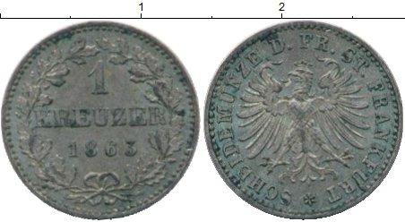 Картинка Монеты Франкфурт 1 крейцер Серебро 1863