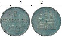 Изображение Монеты Гамбург 1 сешлинг 1855 Серебро XF+