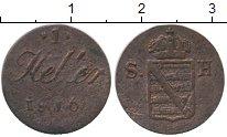 Изображение Монеты Саксен-Хильдбургхаузен 1 геллер 1816 Медь VF