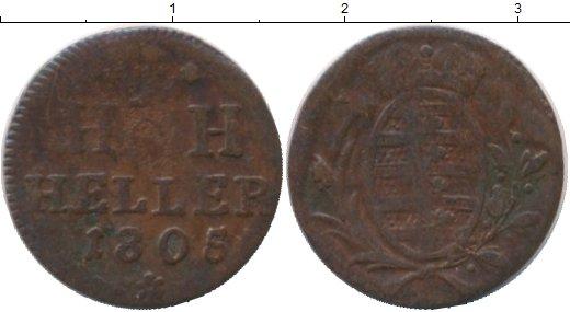 Картинка Монеты Саксен-Хильдбургхаузен 1 геллер Медь 1805