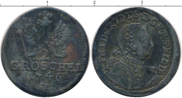Картинка Монеты Силезия 2 гроша Серебро 1746