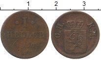 Изображение Монеты Германия Гессен-Дармштадт 1 хеллер 1850 Медь VF