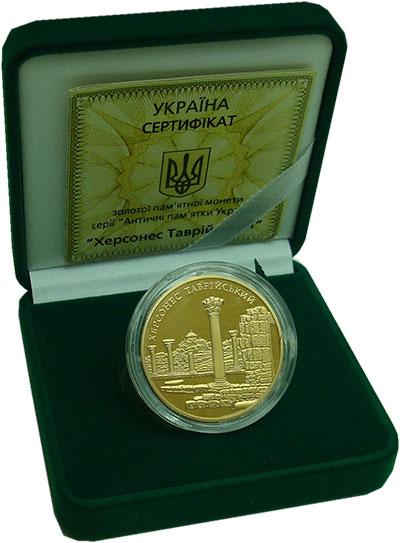 Изображение Подарочные монеты Украина 100 гривен 2009 Золото Proof- Херсонес Таврический