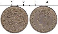 Изображение Монеты Кипр 1 шиллинг 1947 Медно-никель XF
