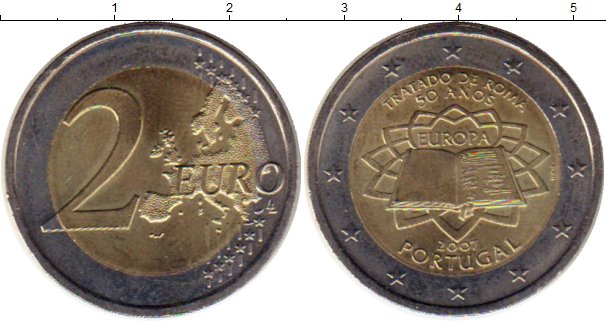 Картинка Монеты Португалия 2 евро Биметалл 2007