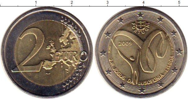 Картинка Монеты Португалия 2 евро Биметалл 2009