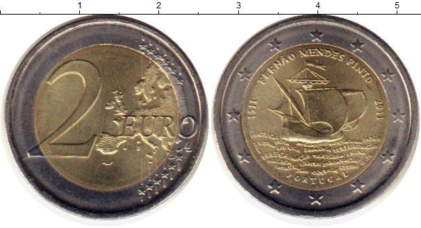 Картинка Монеты Португалия 2 евро Биметалл 2011