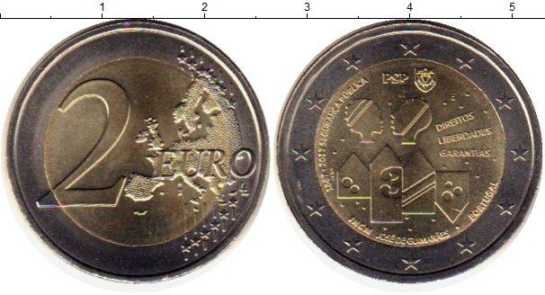 Картинка Монеты Португалия 2 евро Биметалл 2017