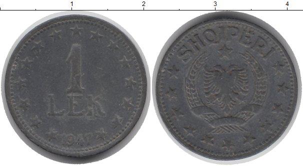 Картинка Монеты Албания 1 лек Цинк 1947