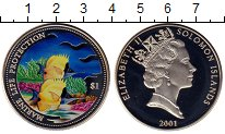 Изображение Монеты Соломоновы острова 1 доллар 2001 Медно-никель Proof