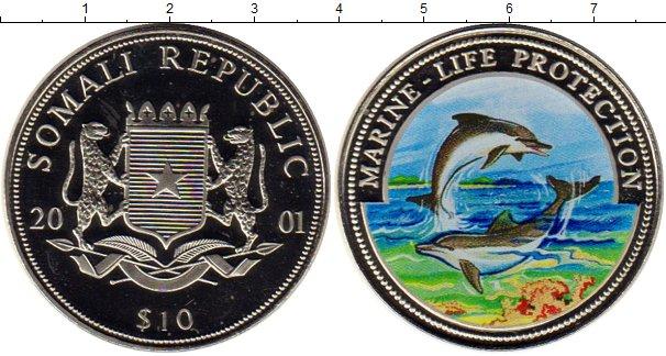 Картинка Монеты Сомали 10 долларов Медно-никель 2001