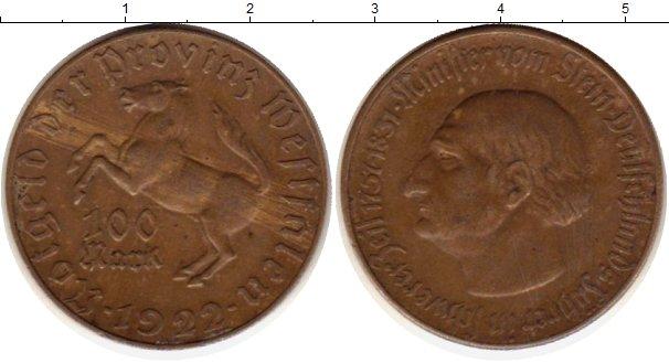 Картинка Монеты Вестфалия 100 марок Латунь 1922