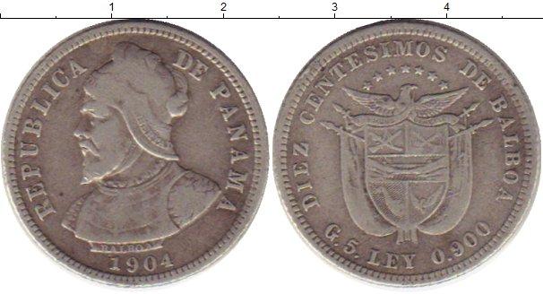 Картинка Монеты Панама 10 сентесим Серебро 1904