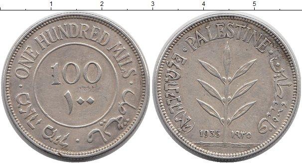 Картинка Монеты Палестина 100 милс Серебро 1935