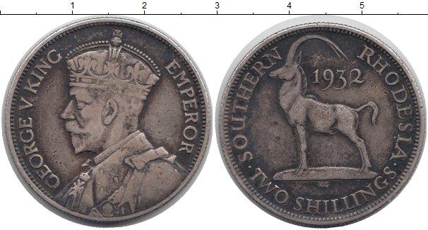 Картинка Монеты Родезия 2 шиллинга Серебро 1932