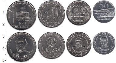 Изображение Наборы монет Парагвай Парагвай 2008-2016 2007  UNC- В наборе 4 монеты но