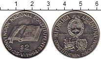Изображение Монеты Аргентина 2 песо 1994 Медно-никель XF+