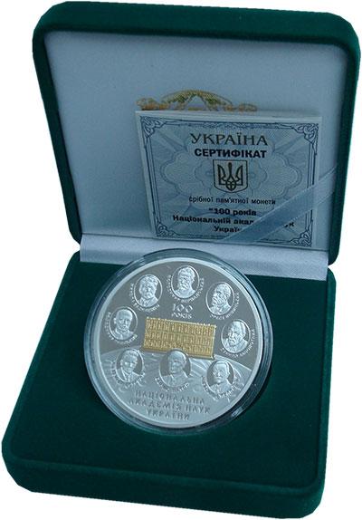 Изображение Подарочные монеты Украина 20 гривен 2018 Серебро Proof 100 лет Национальной