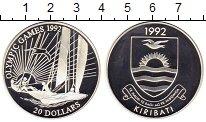Изображение Монеты Кирибати 20 долларов 1992 Серебро Proof-