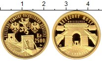 Изображение Монеты Чехия 2500 крон 2008 Золото Proof
