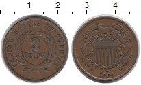Изображение Монеты США 2 цента 1864 Медь XF