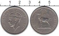 Монета Родезия 2 шиллинга Медно-никель 1951 XF фото