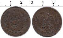 Изображение Монеты Мексика 5 сентаво 1915 Бронза VF