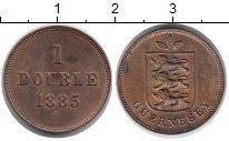 Изображение Монеты Гернси 1 дубль 1885 Бронза XF