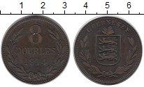Изображение Монеты Великобритания Гернси 8 дублей 1914 Бронза XF-