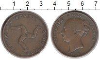 Изображение Монеты Остров Мэн 1 пенни 1839 Медь VF