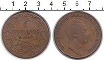 Изображение Монеты Швеция 4 скиллинга 1849 Медь VF