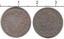 Изображение Монеты Великобритания 3 пенса 1827 Серебро XF-