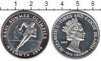 Изображение Монеты Великобритания Теркc и Кайкос 5 крон 1995 Серебро UNC-