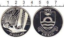 Монета Кирибати 20 долларов Серебро 1992 Proof- фото
