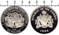 Изображение Монеты Гамбия 20 даласи 1994 Серебро Proof