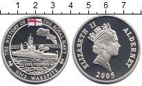 Изображение Монеты Великобритания Олдерни 5 фунтов 2005 Серебро Proof