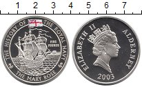 Изображение Монеты Великобритания Олдерни 5 фунтов 2003 Серебро Proof