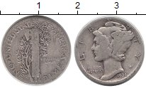 Изображение Монеты США 1 дайм 1936 Серебро XF-