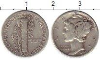 Изображение Монеты США 1 дайм 1941 Серебро XF-
